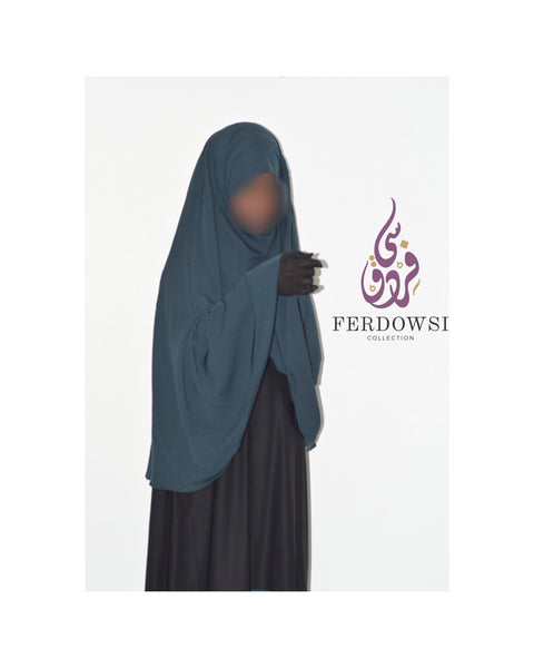 Tie back Khimar - Shady Teal