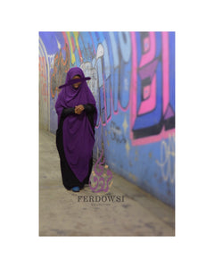 Maxi Chiffon Hijab - Lady Purple