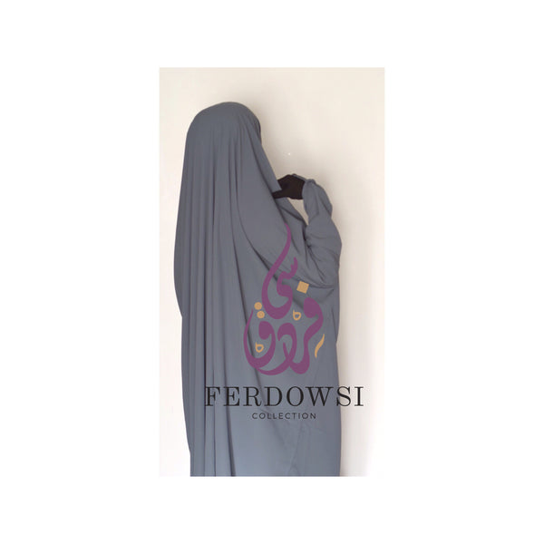 Jilbab 2-Piece- Earthy Gray