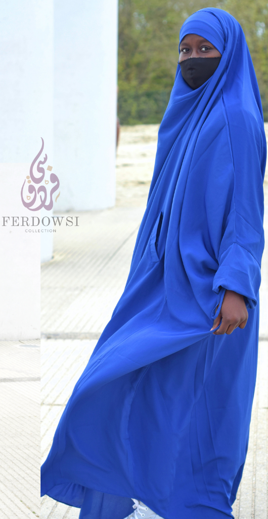 Jilbab One Piece - Royal Blue