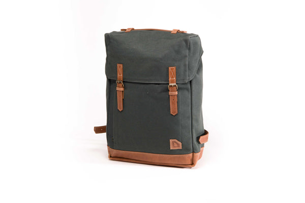Arniko Backpack Dark Green Side Zipper