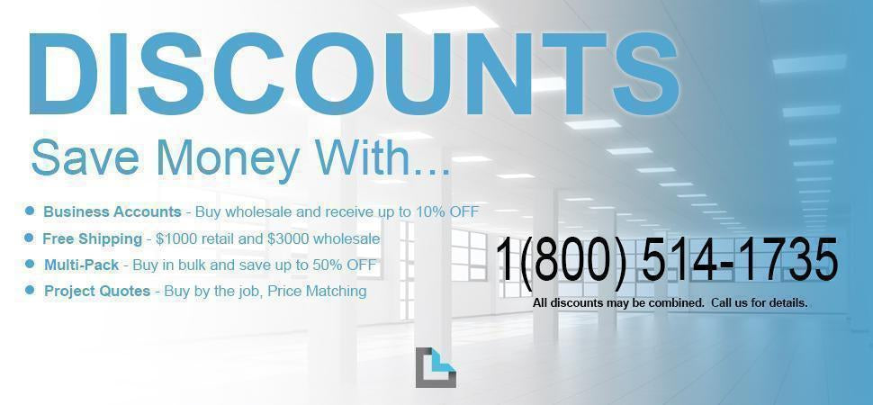 Discounts for Wholesale Lighting and Electrical at LeanLight.com-LeanLight