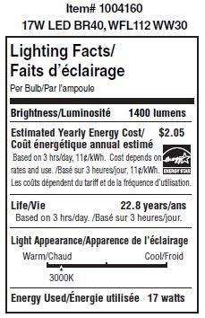 Ushio 1004160 Lighting Facts at LeanLight