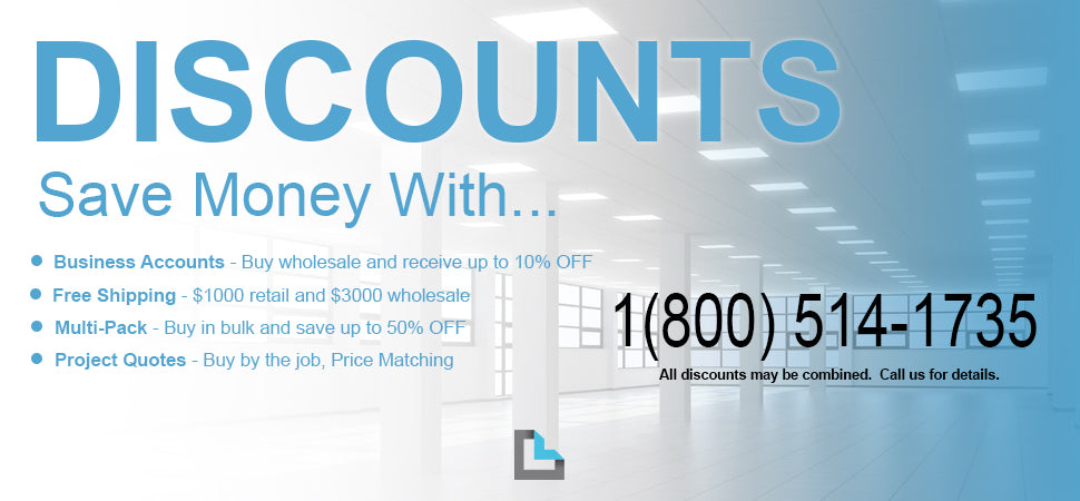 Discount Banner at LeanLight.com