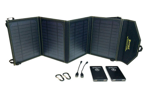 SunJack Solar Charger - 20 watt + (2) 8000 mAh batteries