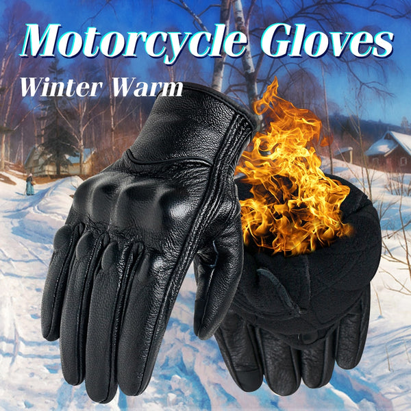 Goatskin Winter Motorcycle  Gloves