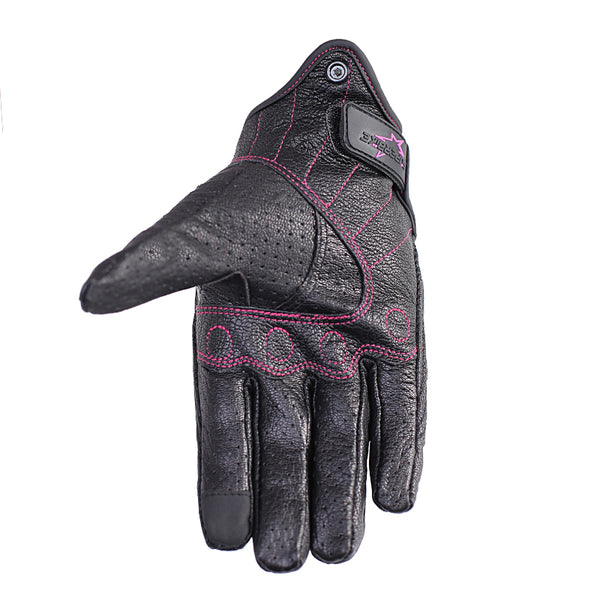 Goatskin Motorcycle Gloves for Women