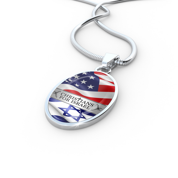 Christians for Israel Pendant & Snake Chain
