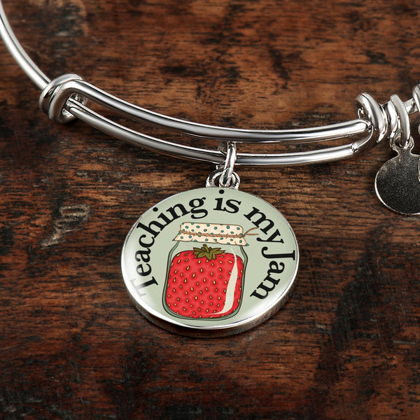 Teaching is My Jam     Bangle Bracelet