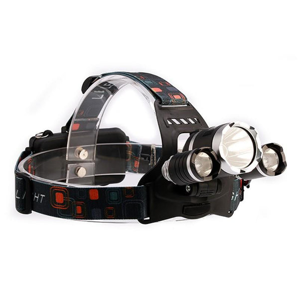 Triple Light Rechargeable LED Headlamp