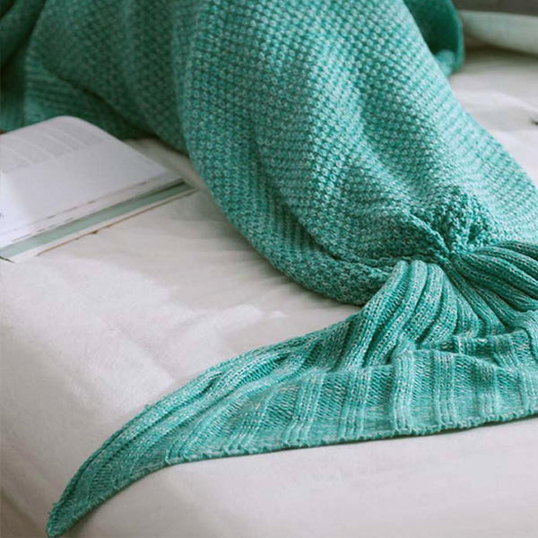 Kids Knitted 'Mermaid Tail' Blanket