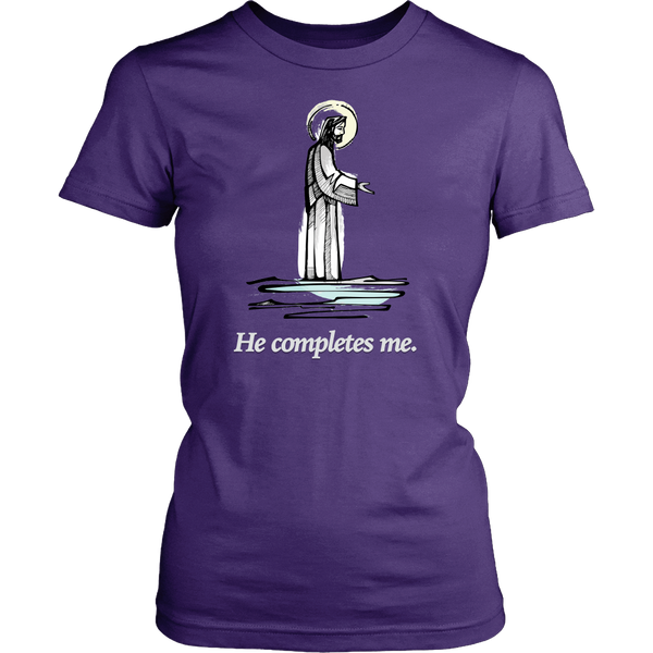 "T-shirt ""He Completes Me"""