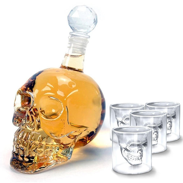 Skull Decanter & Glassware Set