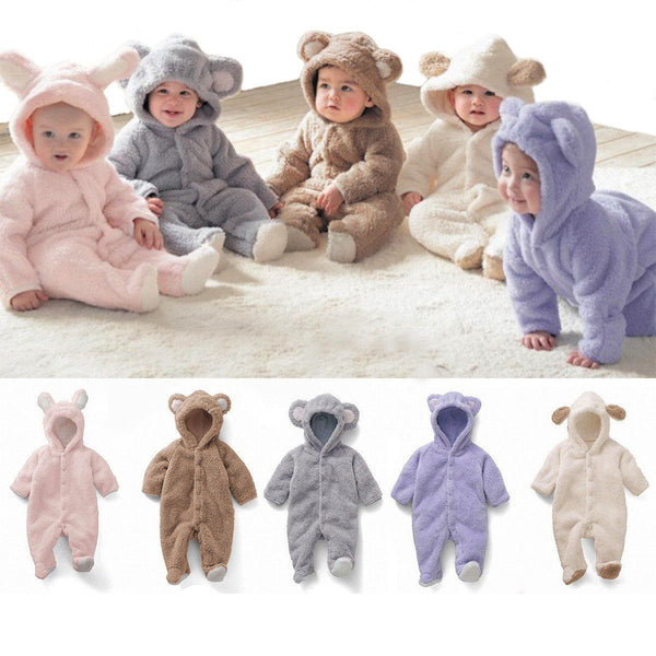 Fleece Baby Bear Romper