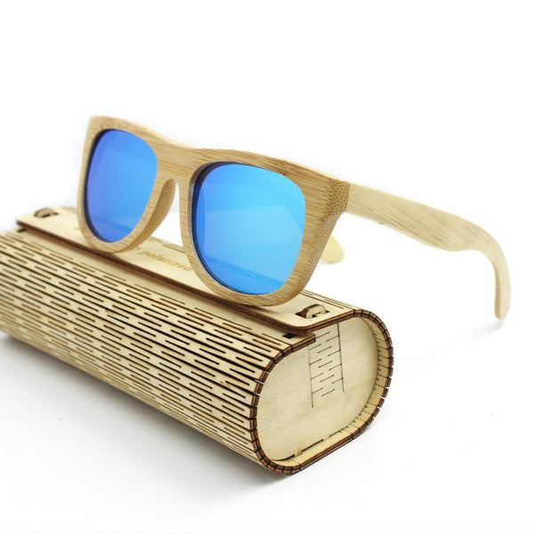 Handcrafted Natural Bamboo Frame Polarized Sunglasses