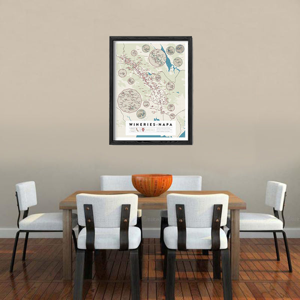 Wineries of Napa Print