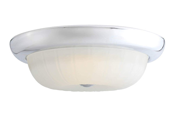 Mega Lighting Flush Dome Polished Chrome/Etched Glass(1) 15W LED Panel