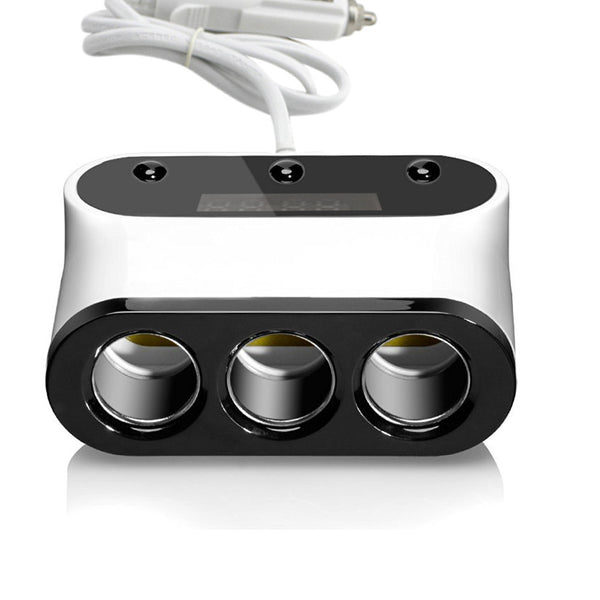 MWGears 12V 3-Socket Cigarette Lighter Sockets with Dual USB