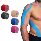 Active Authority Kinesiology Athletic Support Tape, Continuous Roll  (5 Color Options)