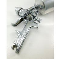 Dynamic Power Gravity Feed HVLP Spray Gun 1000cc Aluminum Cup Spary Pattern 1.2 in to 9.2 in
