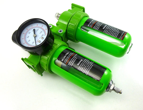 Dynamic Power 1/4 in  Air Unit Professional Air Filter, Regulator and  Lubricator Control Unit (1/4