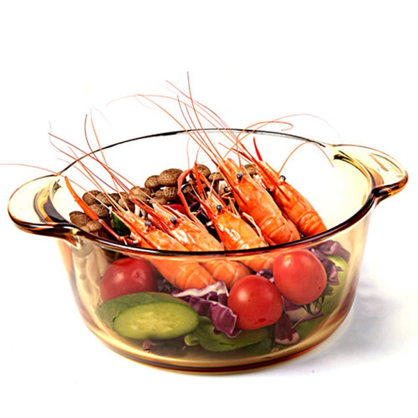 Endureglass Clear Glass Cookware Round Stewpot