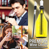 Fairbridge Wine Chiller Rod 3-in-1 18/8 Stainless Steel Wine Cooler Aerator and Pourer Decanter