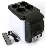 MWGEARS 12V 6L Travel Car Cooler & Warmer w/Cup Holder