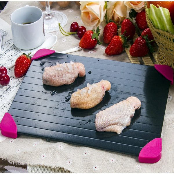 Wow It Is Cool Fast Defrosting Tray - The Safest Way to Defrost Meat or Frozen Food Quickly