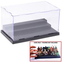 Wow It Is Cool Acrylic Display Case/Box Show Case for Lego Minifigure with 3 Steps
