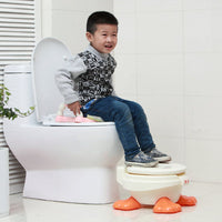 GrowRight 2-in-1 Duck Baby Chair Training Seat with Cover