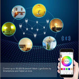 MWGEARS 7.5w Bluetooth Mesh LED Light Bulb - Smartphone Controlled