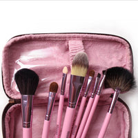 Urban Escape Studio Quality 9-Piece Professional Cosmetic Makeup Brushes Kit with Travel Pouch