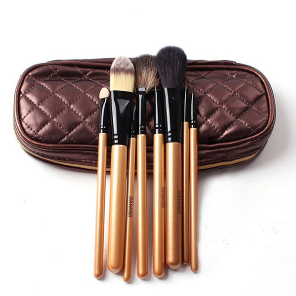 Urban Escape 8-Piece Professional Cosmetic Makeup Brushes Kit with Travel Pouch