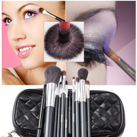 Urban Escape 10-Piece Professional Cosmetic Makeup Brushes Kit with Travel Pouch