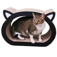 Paw Essentials Cat Face Cardboard Ultimate Scratcher Lounge with Catnip