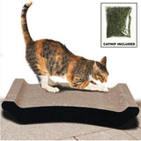 Paw Essentials Cardboard Cat Scratcher with Catnip