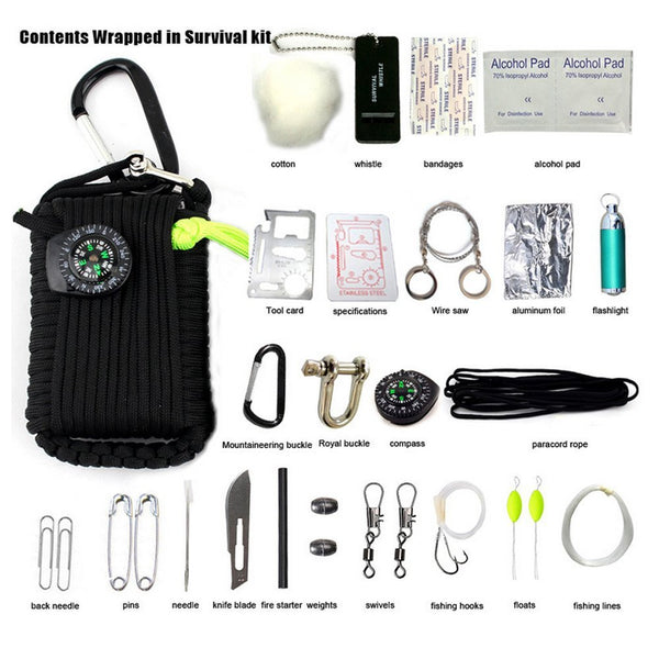 Active Authority Emergency Paracord Key Chain Survival Kit