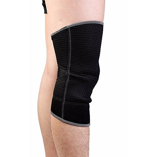 Active Authority Sports Knee Compression Protection Sleeve - Black, Single