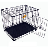 "Paw Essentials 24"" Reinforced Folding Metal Dog Crate w/ Divider"