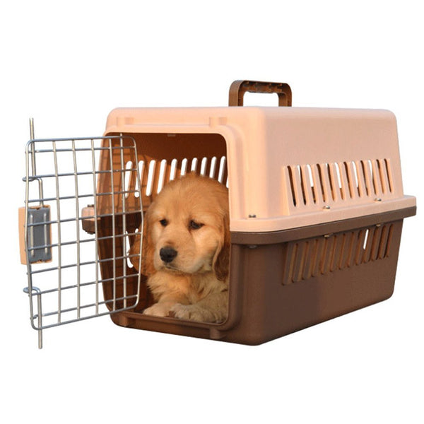 "Paw Essentials 19"" Pet Dog Cat Aviation Airline Travel Cage / Pet Carrier (Coffee)"