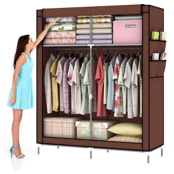 "Amanda Home Portable 44"" Fabric Wardrobe Closet Storage Organizer"