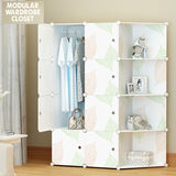 Amanda Home 8-Cube Portable Clothes Closet Wardrobe Storage Organizer with doors