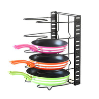 Amanda Home Pan Organizer Rack, Foldable 5 Pot Rack for Kitchen Pots and Lids