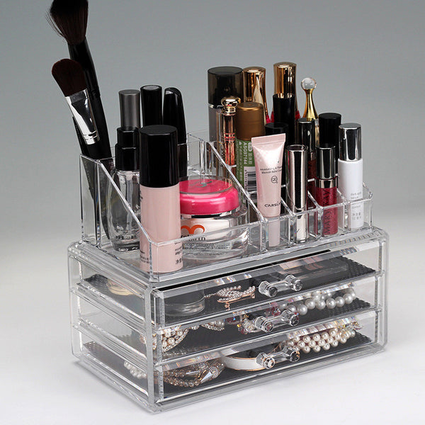 Urban Escape 3-Drawer Acrylic Makeup Organizer Cosmetic Organizer