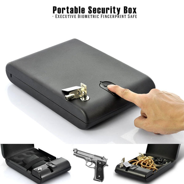MWGears Portable Biometric Fingerprint Firearm & Valuables Safe