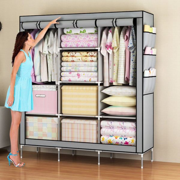 "Amanda Home Portable 51"" Wardrobe Closet Organizer (4 Color Options)"