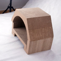 Paw Essentials MJ005 House Shaped Cardboard Cat Scratcher with Catnip