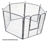 Paw Essentials 6-Panel Portable Pet Exercise Play Pen with Door (2 Color Options)