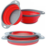 Cook@Home Collapsible Colander Strainer Set By Comfify -  2 Quart / 3 Quart